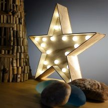 Gorgeous Large Wooden Star With Led Lights